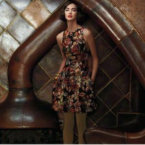 Anthropologie Leifsdottier Floral Brocade Dress 12